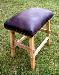 Ana White | Build a No Sew Cayden Nailhead Stool | Free and Easy DIY Project and Furniture Plans