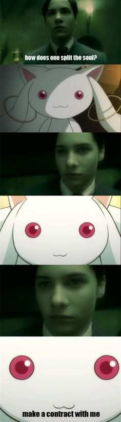 Voldemort got tricked by Kyubey into becoming a magical girl.