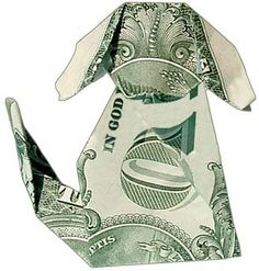 Animal - Money Origami Puppy
