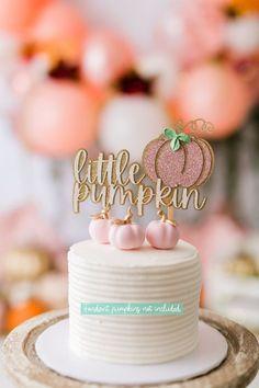 Pumpkin Birthday Parties, Pumpkin First Birthday, Baby Girl First Birthday, Birthday Cake Girls, First Birthday Cakes, Birthday Cake Toppers, Birthday Ideas, Baby Cake Topper, Birthday Photos