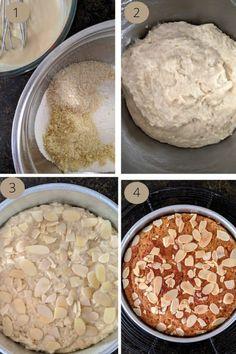 Eggless Honey Almond Cake - Tasha's Artisan Foods Eggless Recipes, Almond Recipes, Baking Recipes, Cake Recipes, Almond Flour Cakes, Eggless Chocolate Cake, Honey Almonds, Walnut Cake, Artisan Food