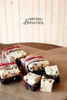 brownie lovers and cookie dough lovers to unite over these Cookie Dough Brownies from Whipperberry!