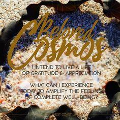 West Coast, Cosmos, Gratitude, I Can, Affirmations, Insight, Appreciation, Universe, Motivation