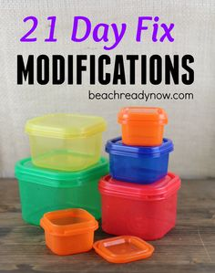 21 Day Fix Modifications