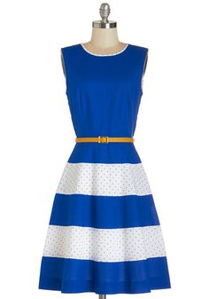 Homemade Pie Swap Dress. Just like your wild blueberry pies, youre famous for your sweet sense of style as well, and you can show off both as you trade homemade sweets in this ModCloth-exclusive dress by Bea  Dot. #blueNaN