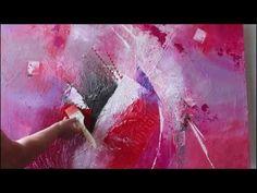Einfach Malen-Abstrakte Acrylmalerei. Easy Painting-Abstract Art Painting - YouTube