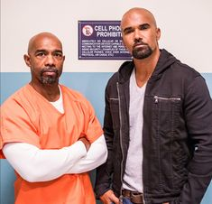 Michael Beach & Shemar Moore  On the set of SWAT