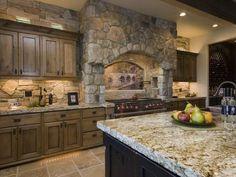 knotty alder cabinets with black glaze