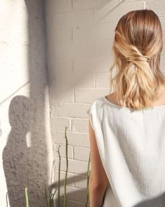pinned back hair #style