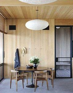 Saarinen Tulip Table  Hans Wegner Chairs | architect, Cary Tamarkin  designer, Suzanne Shaker | House Beautiful...