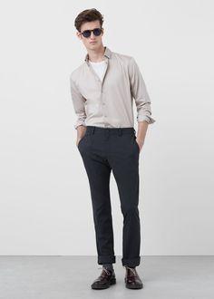 Camisa slim-fit algodón | MANGO MAN
