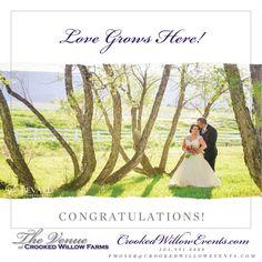 Love Grows at Crooked Willow Farms... #CrookedWillowFarms #ColoradoWeddings #LarkspurWeddings #Bride #Groom #COWeddings #TheVenueAtCrookedWillowFarms #Barn #RedBarn #BarnWeddings #CrookedWillowEvents #Larkspur.
