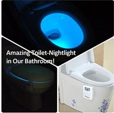 Here's a new Amazon Giveaway to win!  Toilet Night Light: iTaoBest Motion Activated Toilet Bowl NightLight with Colors, Light Detector, Motion Sensor