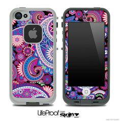 Purple Paisley V2 Print Skin for the iPhone 4/4s or 5 LifeProof Case
