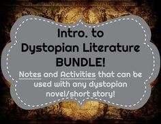 Awesome bundle that can be used with any dystopian genre book/short story/even film!