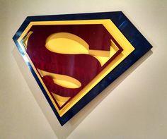 Superman Metal Wall Art  3 feet wide by GeekaholicsAnonymous