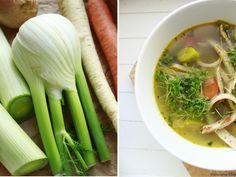 Delicious blog: Zeleninový vývar s pohankovými palačinkovými nudlemi Delicious Blog, Celery, Soup, Vegetables, Ethnic Recipes, Vegetable Recipes, Soups, Veggies