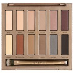 Urban Decay 'Naked Ultimate Basics' eyeshadow palette ($48) ❤ liked on Polyvore featuring beauty products, makeup, eye makeup, eyeshadow, beauty, eyes, filler, urban decay eyeshadow, urban decay and palette eyeshadow