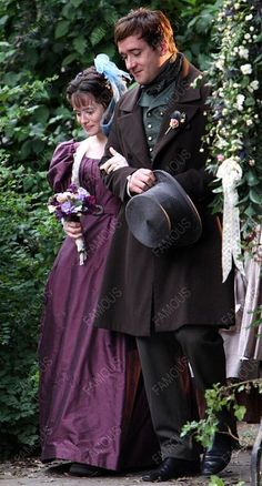 Claire Foy as Amy Dorrit and Matthew Macfadyen as Arthur Clennam