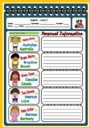 PERSONAL INFORMATION English Grammar Quiz, Vocabulary Worksheets, Texts, Student, Writing, Education, Words, Onderwijs, Being A Writer
