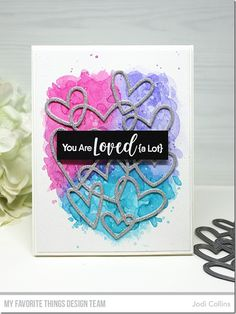 The FABULOUS MFT January Release will be available on Tuesday, January at . Scrapbooking Album, Scrapbook Albums, Valentine Love Cards, Valentine Ideas, Confetti Cards, Love Anniversary, Mft Stamps, Heart Cards, Sweet Nothings
