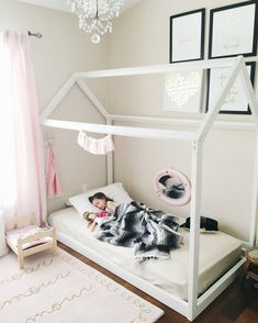 50 amazing toddler floor bed images baby room girls bedrooms rh pinterest com
