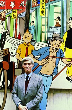 Hergé and a picture of Blue Lotus