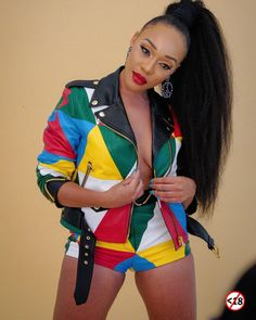 Thando's jacket style is too lit ⭐⭐🔥❤💛💚💙🖤 _______ _______ 👩🏽💼 Black Kids, Black Child, Girl Fashion, Mens Fashion, Jacket Style, Fashion Stylist, African Fashion, Moschino, Casual Outfits