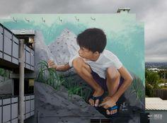 Street Art • Meo.974 #art #graffiti #mural #streetart