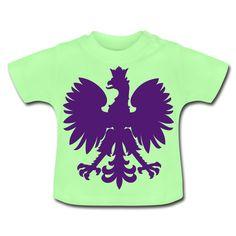 Polska Baby Shirt Mint Grün (Lila/Samtig) - Baby T-Shirt