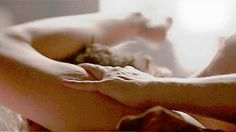 Jamie emerging from between Calire's thighs. The highlight of the episode.