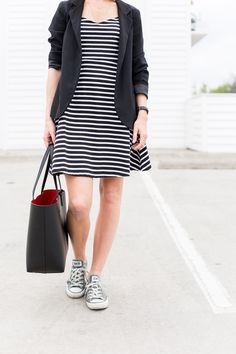 Three Stripe Dresses - A PIECE of TOAST // Lifestyle + Fashion Blog // Dallas