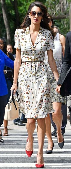 Amal Clooney Brightens Up a Rainy Day, Plus More Can't-Miss .- Amal Clooney Brightens Up a Rainy Day, Plus More Can't-Miss Outfits Amal Clooney's Chic Style: Every Can't-Miss Outfit Trendy Dresses, Day Dresses, Nice Dresses, Casual Dresses, Short Dresses, Fashion Dresses, Summer Dresses, Casual Outfits, Casual Wear