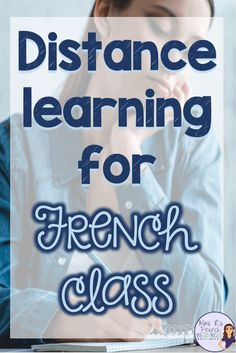 Distance learning for French teachers can be intimidating! How much work do you need to provide? What technology can help you deliver and assess your French vocabulary and grammar work? Where can you find resources? Learn more at Mme R's French Resources. Engage In Learning, Learning Time, Learning Quotes, Education Quotes, French Teaching Resources, Teaching Ideas, Spanish Activities, Work Activities, Teaching Activities