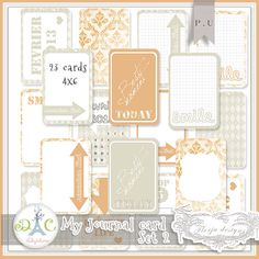 Free journaling cards for project life from Florju Designs