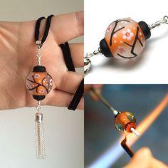 'Aglow' Lampwork Bead