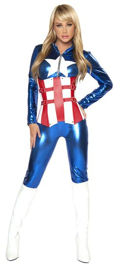 Sexy American Hero Adult Costume | Totally Costumes maybe with a skirt?