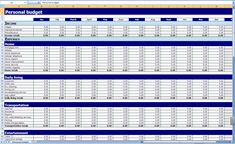 Personal Monthly Expense Report Template Download Free Monthly Budget Excel Template From Exceltemplatesinn .