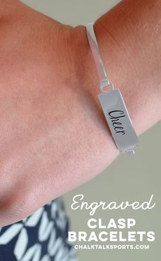 Cheer Engraved Clasp Bracelet Cheer CH-01022