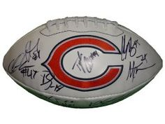 SOLD OUT! 2011 Chicago Bears team signed logo full size football w/ proof photo.  Proof photos of the Bears signing will be included with your purchase along with a COA issued from Southwestconnection-Memorabilia, guaranteeing the item to pass authentication services from PSA/DNA or JSA. Free USPS shipping. www.AutographedwithProof.com is your one stop for autographed collectibles from Chicago sports teams. Check back with us often, as we are always obtaining new items.