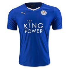 Leicester City 15 16 Home Soccer Jersey Leicester Football 3e75a8865