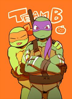 TMNT 2012 B Team, Mikey and Donnie (my personal favorite!)