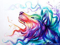 狐狸水墨画
