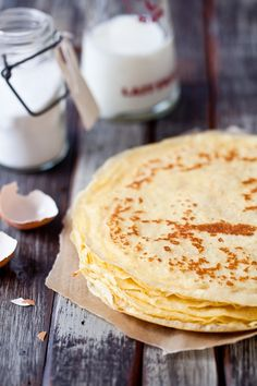 Gluten Free Crepes   Makes 12 crepes     For the crepes:   125gr potato flour (about 3/4 cup) (I use Ener-g Potato Starch Flour)   125gr millet flour (about 3/4 cup)   pinch of salt   2 cups whole milk   3 eggs   1 tablespoon unsalted butter, melted and cooled   pinch of salt   1/2 cup light beer (or club soda or cider)