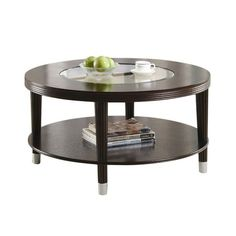 vintage round black metal coffee table with embossed graphic top
