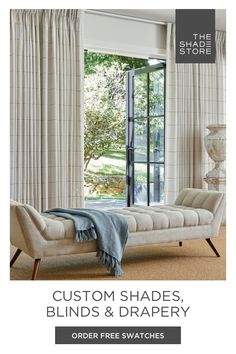 Handcrafted in the USA, The Shade Store® provides the finest custom shades, blinds & drapery. Custom Shades, Custom Window Treatments, Shades Blinds, Home Office Space, Beach Condo, Jersey City, Valances, Cottage Ideas, Headboards