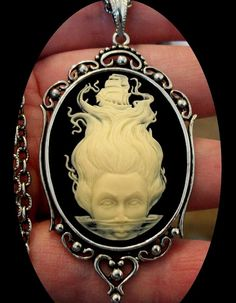 RESIN CAMEO DETAILS : Highly detailed, cream colored Mermaid with lost ship on…
