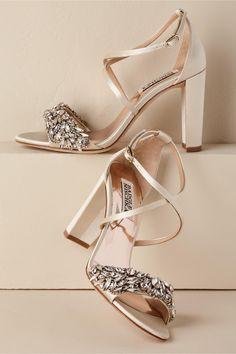 da759fb7dae BHLDN s Badgley Mischka Harper Block Heel in Ivory  weddingshoes Wedding  Day Jewelry