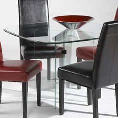Found it at www.dcgstores.com - ♥ ♥ Amelia Glass Dining Table with X Base ♥ ♥