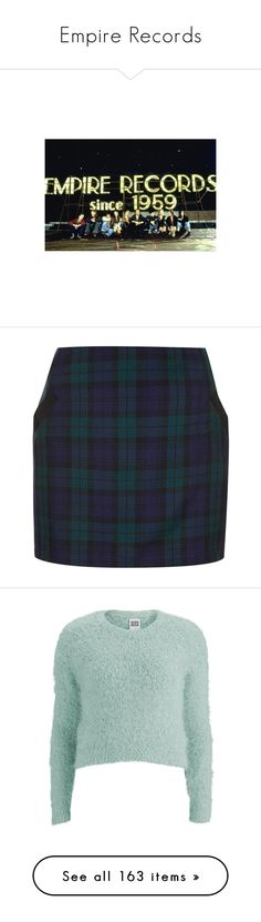 """""""Empire Records"""" by pocahaunted666 ❤ liked on Polyvore featuring skirts, mini skirts, bottoms, faldas, plaid skirt, topshop skirt, topshop, short plaid mini skirt, blue plaid mini skirt and mini skirt"""